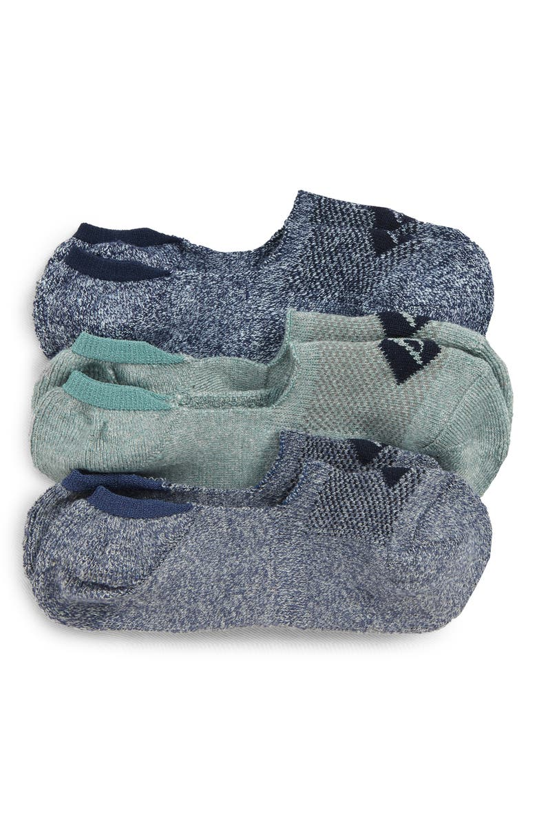 SPERRY Top-Sider<sup>®</sup> Repreve Assorted 3-Pack Liner Socks, Main, color, NAVY MARL ASST