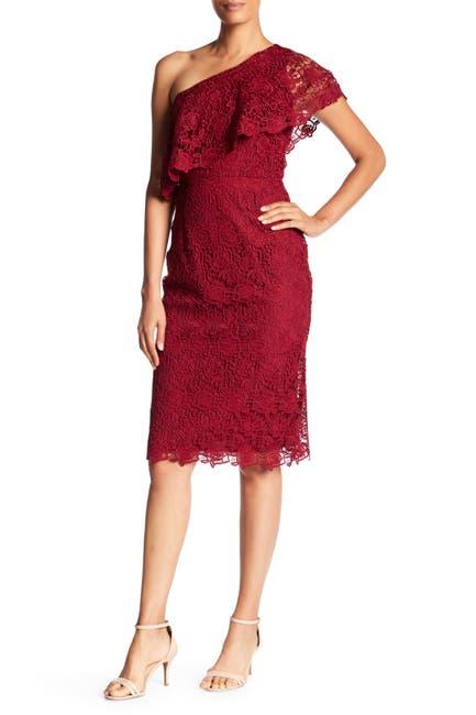 Image of NANETTE nanette lepore One Shoulder Lace Sheath Dress
