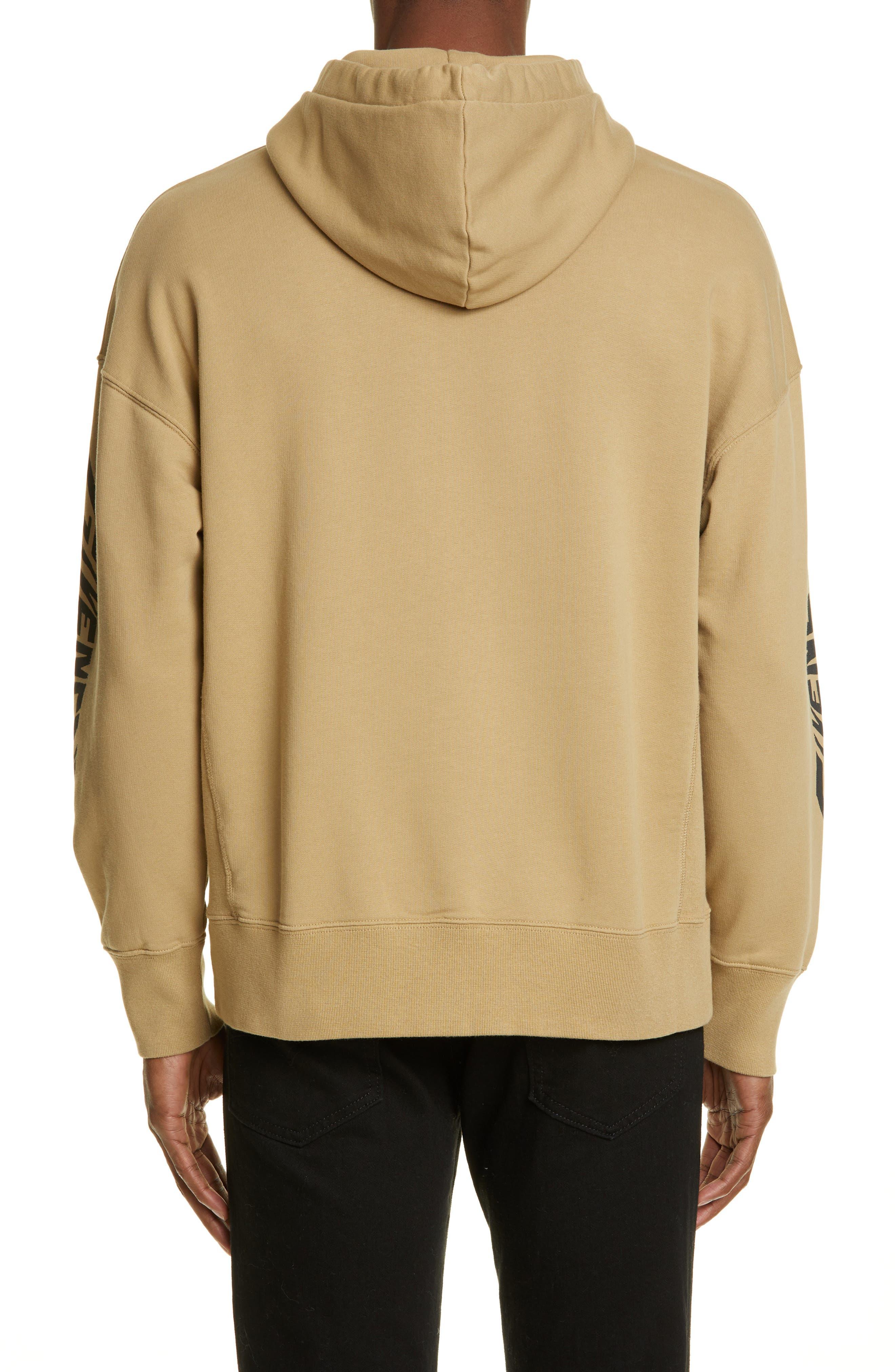 ,                             Eagle Print Hooded Sweatshirt,                             Alternate thumbnail 2, color,                             BEIGE