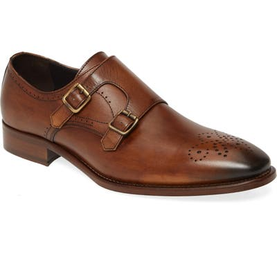 Johnston & Murphy Cormac Double Monk Strap Shoe, Brown