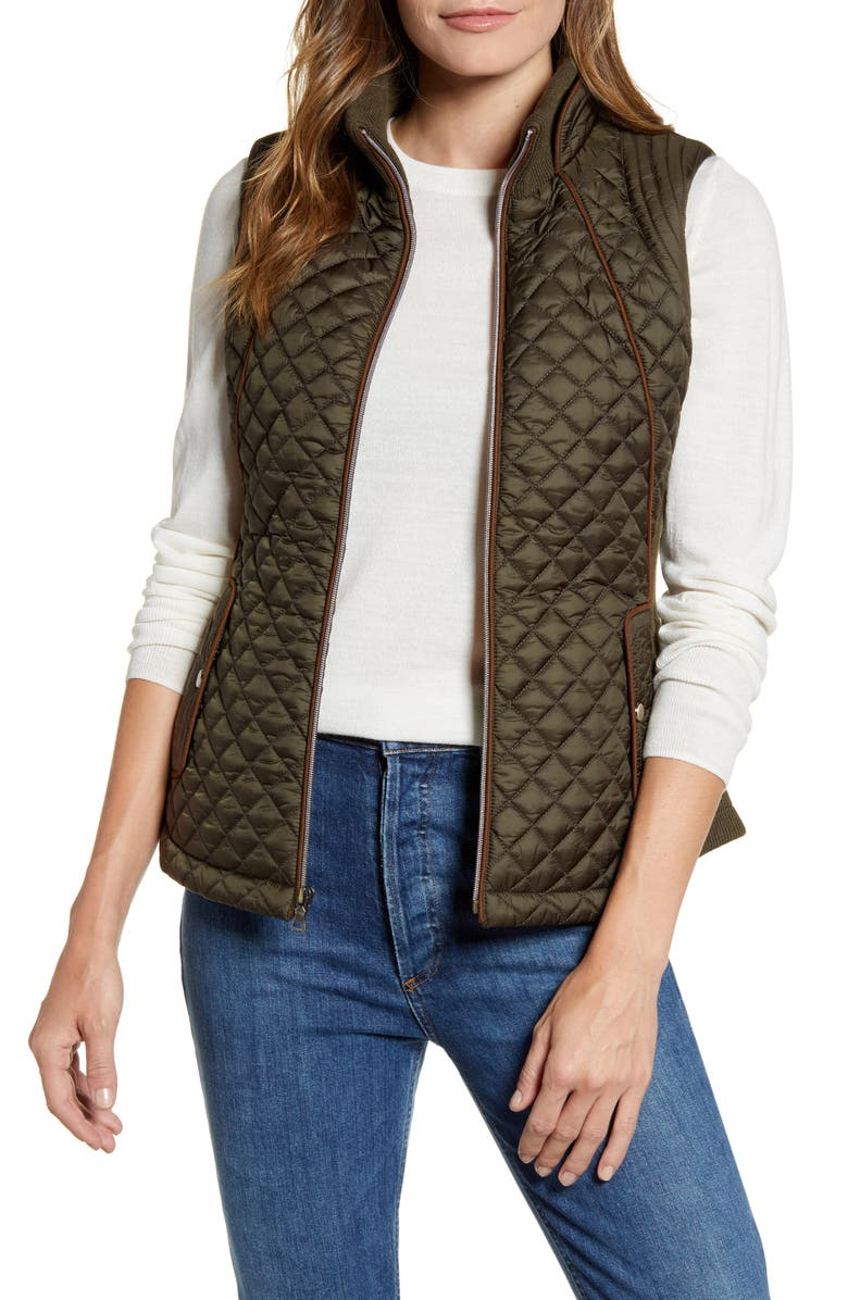 GALLERY Knit Side Quilted Vest, Main, color, 301