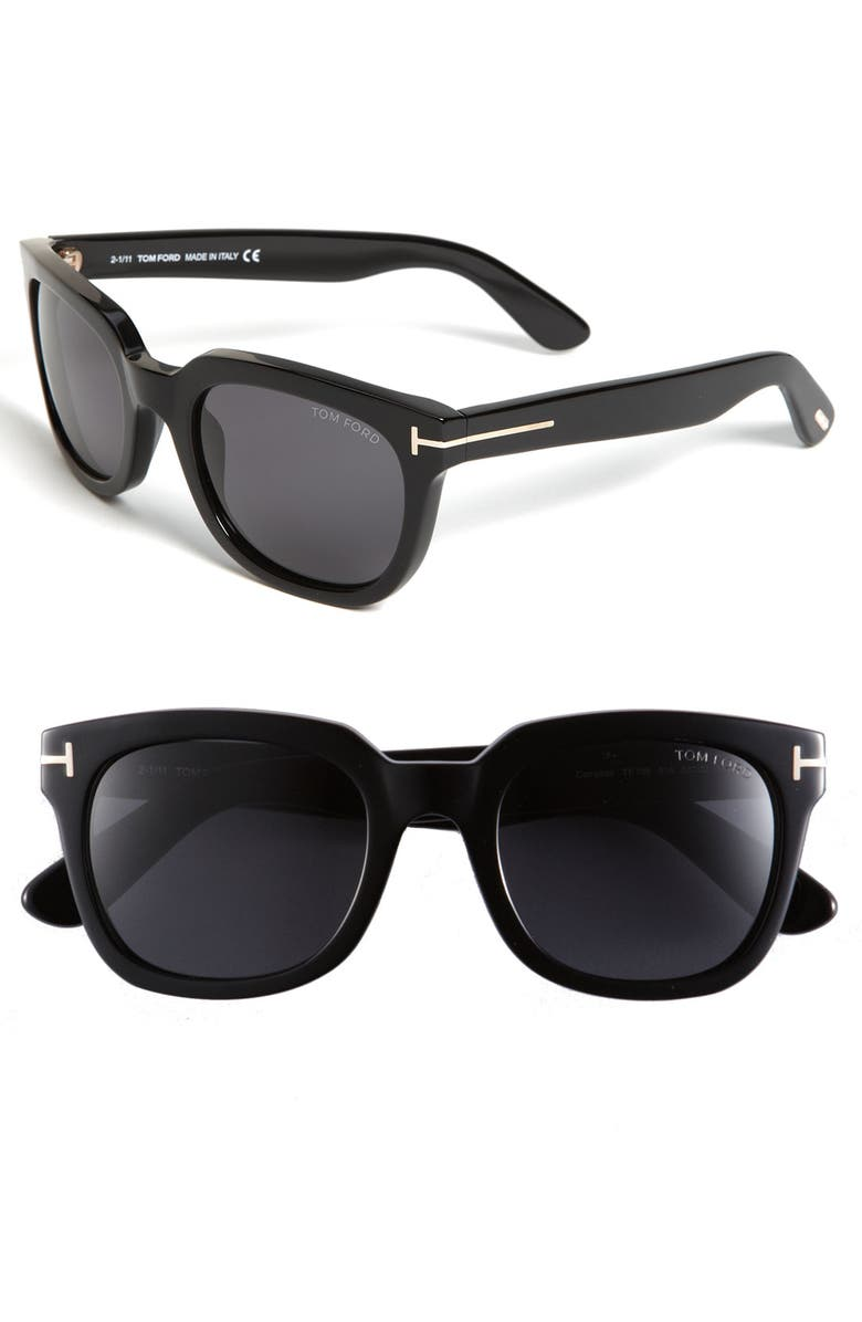 TOM FORD 'Campbell' 53mm Sunglasses, Main, color, 001