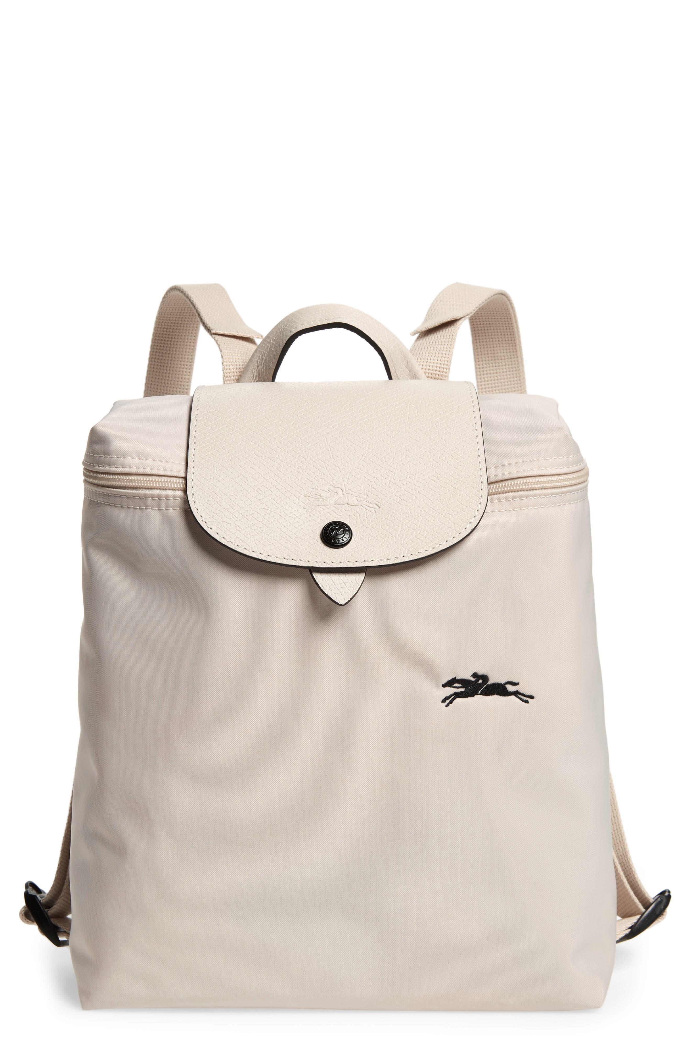 Longchamp Le Pliage Club Backpack - White | AccuWeather Shop