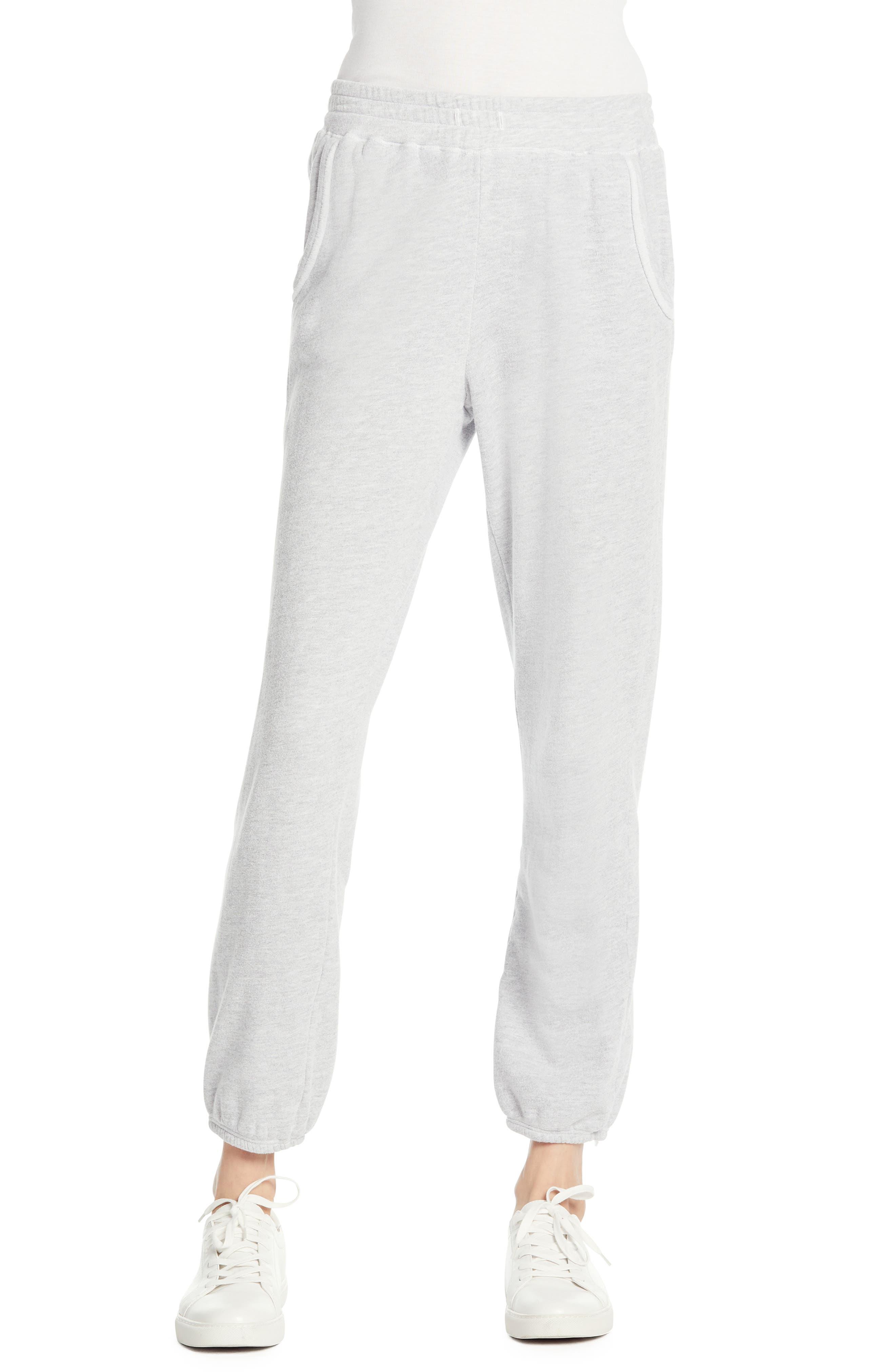 Michael Stars Cozy Terry Sweatpants, Grey