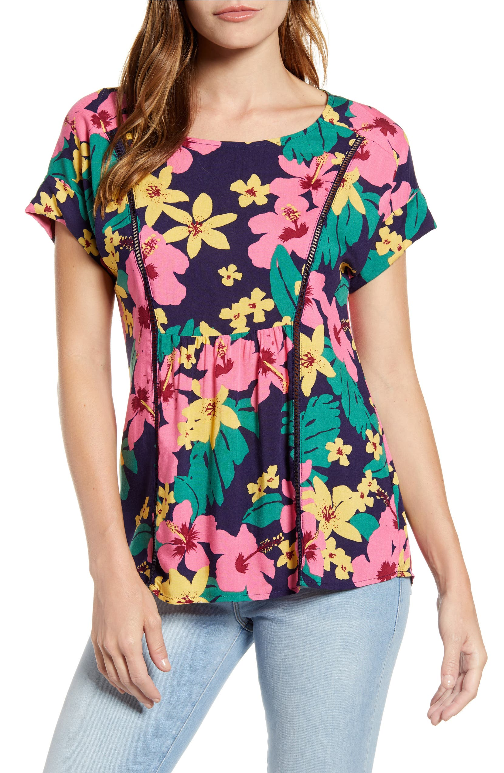 ed75cc3ae2cc Gibson x Hot Summer Nights Two Peas Trimmed Swing Top (Nordstrom Exclusive)  | Nordstrom