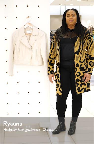Chandler Faux Leather Jacket, sales video thumbnail