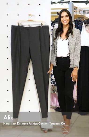 Flat Front Dot Wool Dress Pants, sales video thumbnail