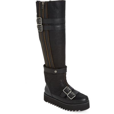 UGG Moto Punk Over The Knee Boot, Black