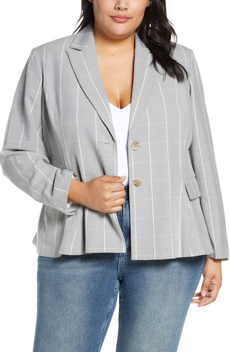 RACHEL ROY COLLECTION Windowpane Check Blazer, Main, color, 060