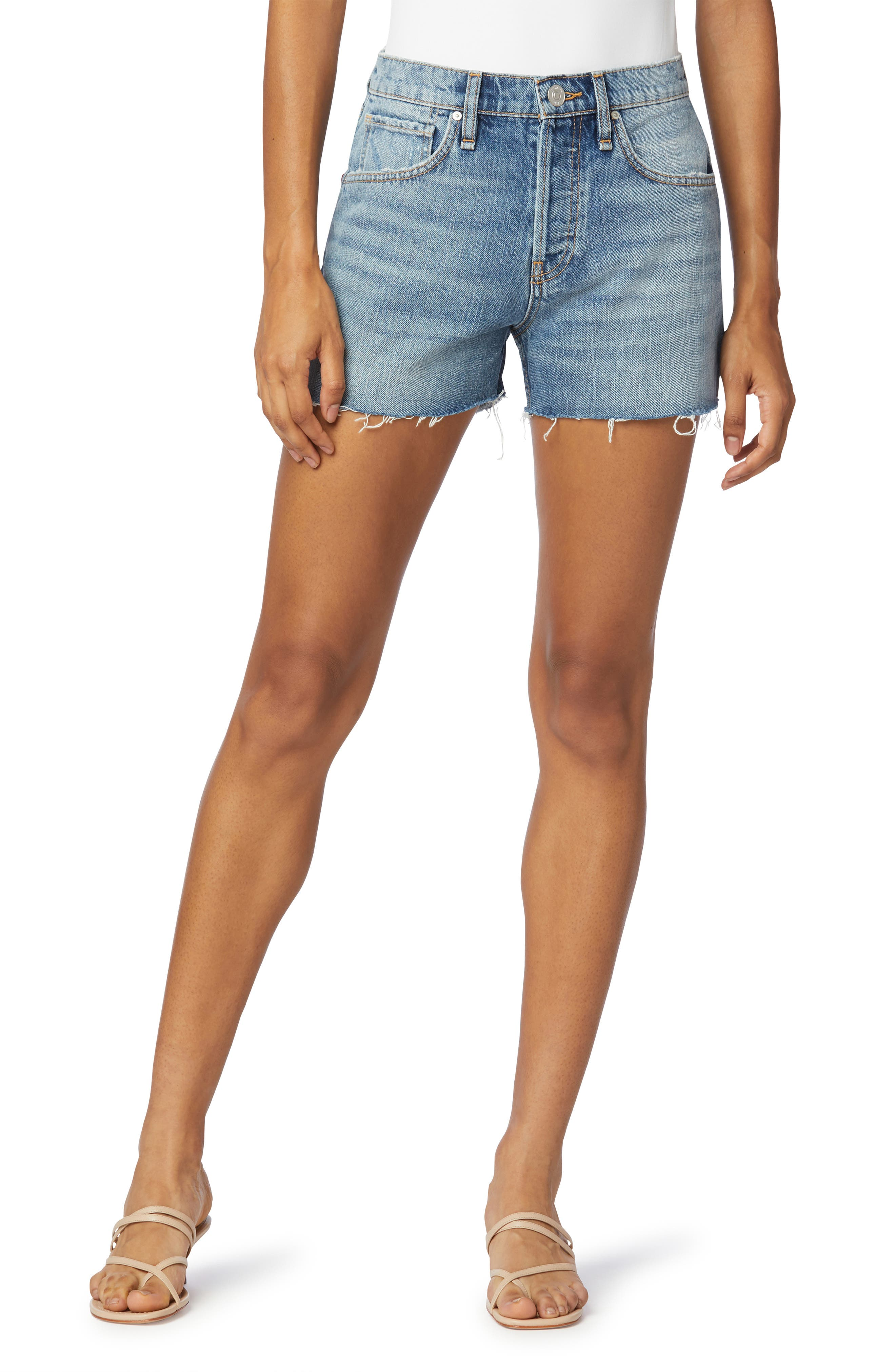 Lori High Waist Denim Shorts
