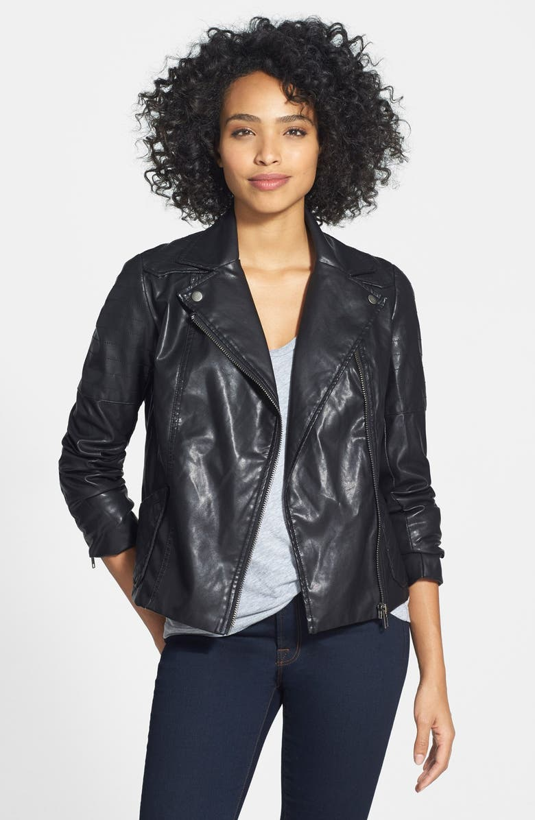 KUT FROM THE KLOTH 'Avery' Faux Leather Jacket, Main, color, 002