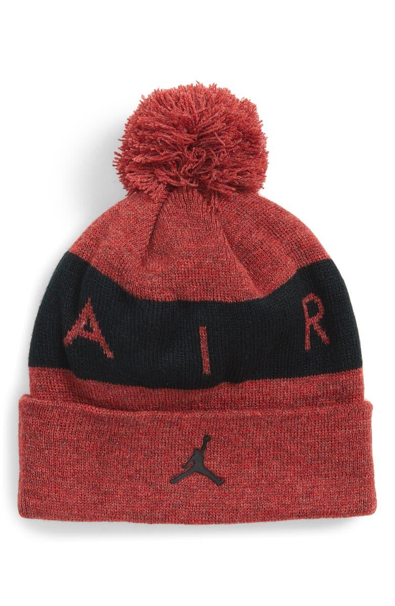 JORDAN Air Jumpman Knit Beanie with Pompom, Main, color, 602