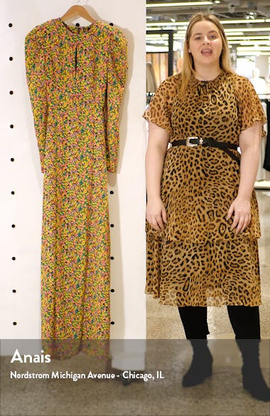 Kiley Lattice Back Long Sleeve Maxi Dress, sales video thumbnail