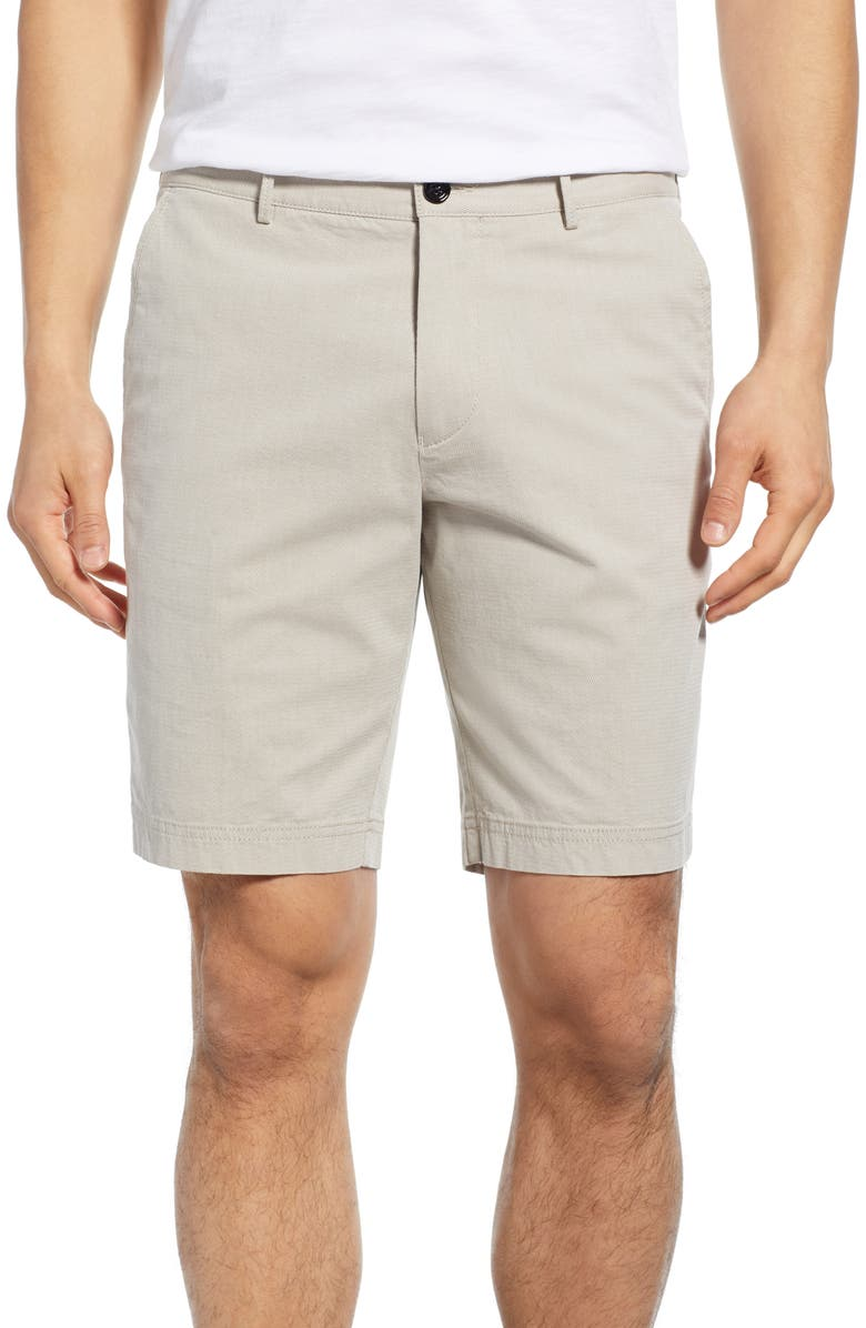 BOSS Slice Structured Shorts, Main, color, KHAKI