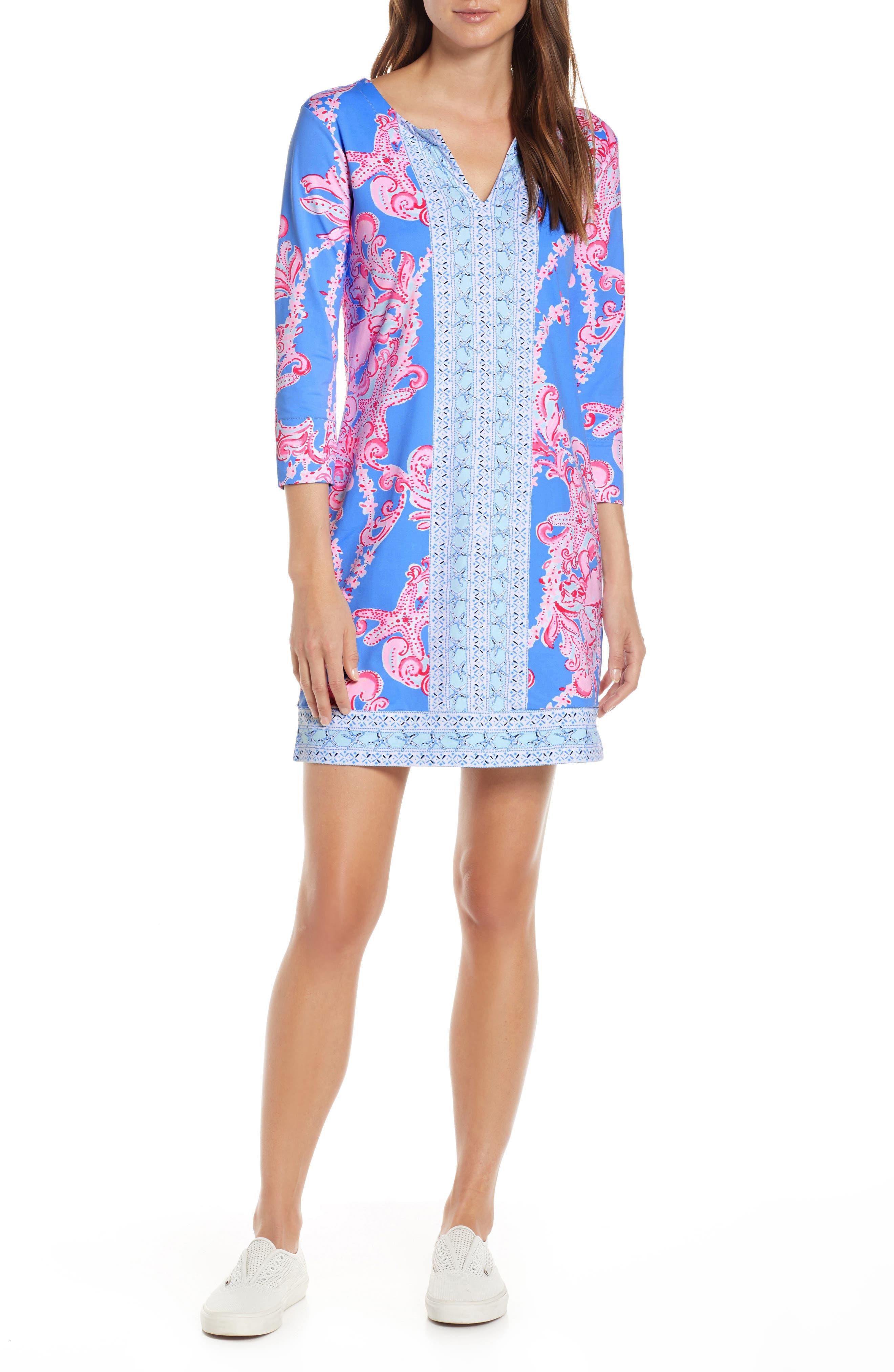 Lilly Pulitzer Nadine Upf 50+ Shift Dress, Blue