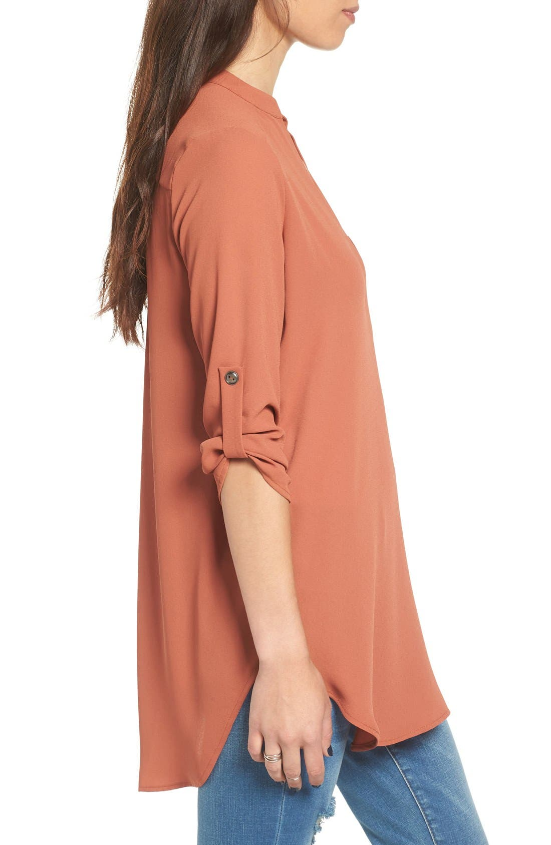 ,                             Perfect Roll Tab Sleeve Tunic,                             Alternate thumbnail 213, color,                             240