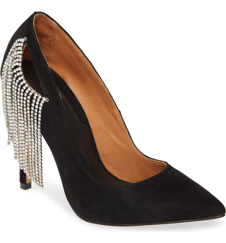 JAGGAR Diamante Cutout Pump, Main, color, BLACK
