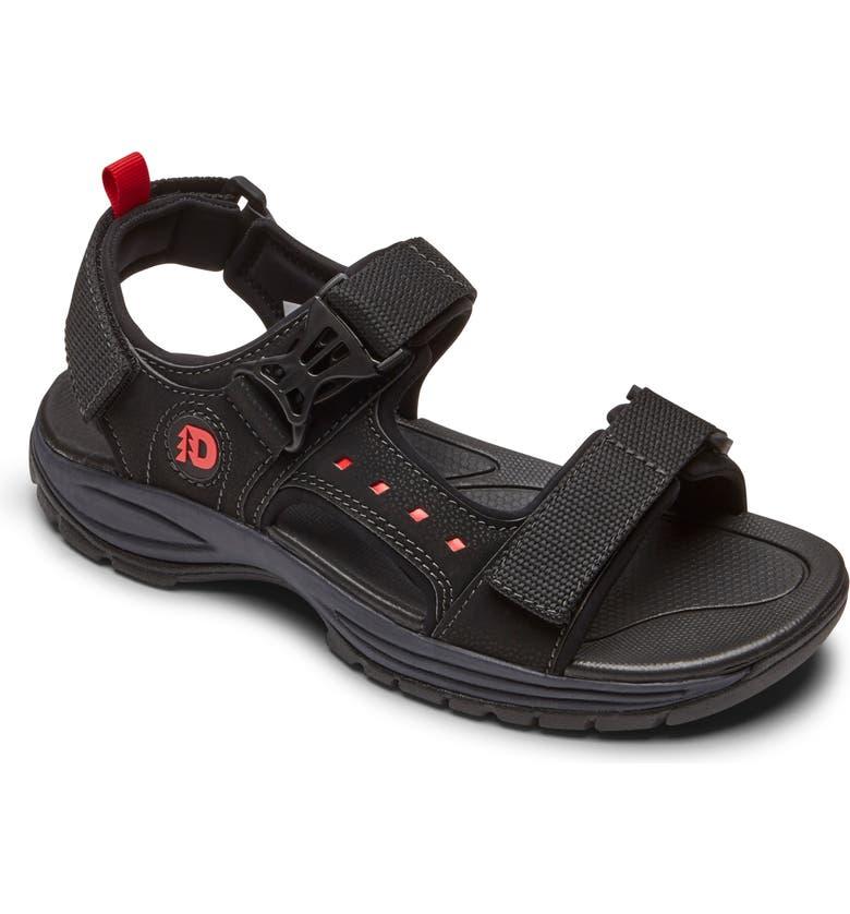 DUNHAM 'Nolan' Sandal, Main, color, BLACK