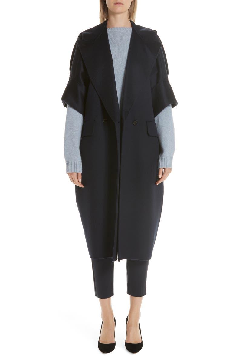 MAX MARA Pelago Double Breasted Cashmere Coat, Main, color, ULTRAMARINE