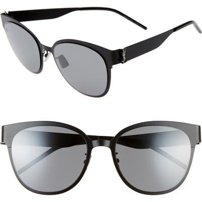 Saint Laurent 5m Sunglasses - Black/silver Monogram/ Silver
