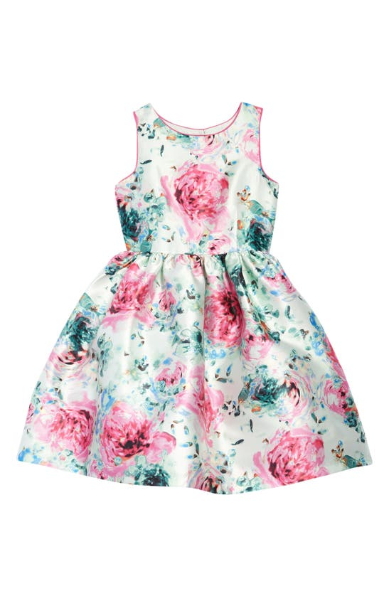 Pippa & Julie KIDS' FLORAL FIT & FLARE DRESS