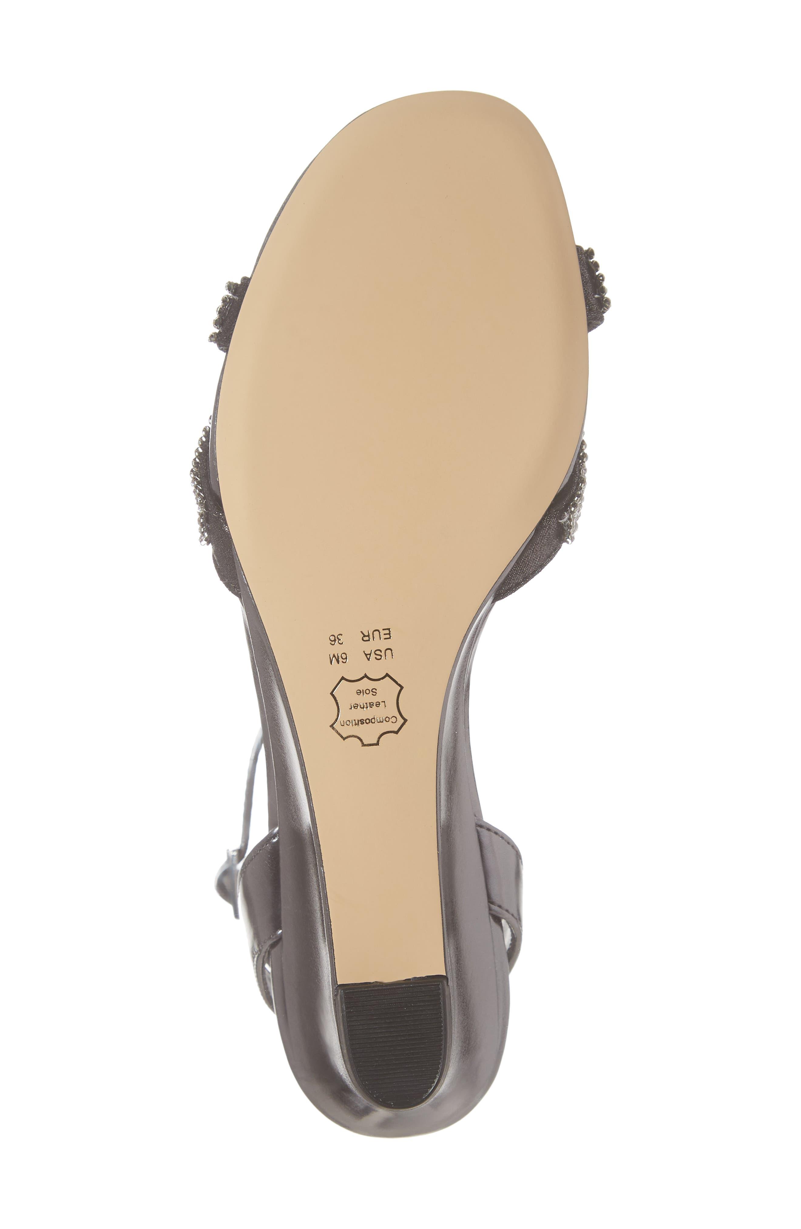 ,                             Florina Crystal Embellished Wedge Sandal,                             Alternate thumbnail 6, color,                             METALLIC GUNMETAL