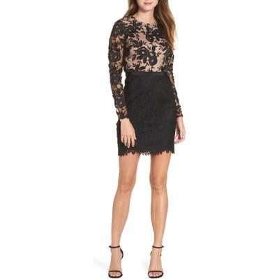 Ml Monique Lhuillier Calypso Lace Sheath Dress, Black