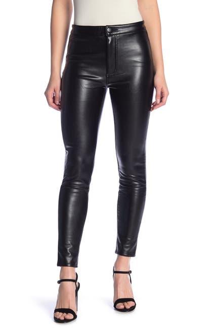 Image of ASHLEY MASON High Rise Faux Leather Pants