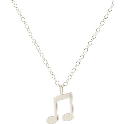 Kris Nations Music Note Charm Necklace