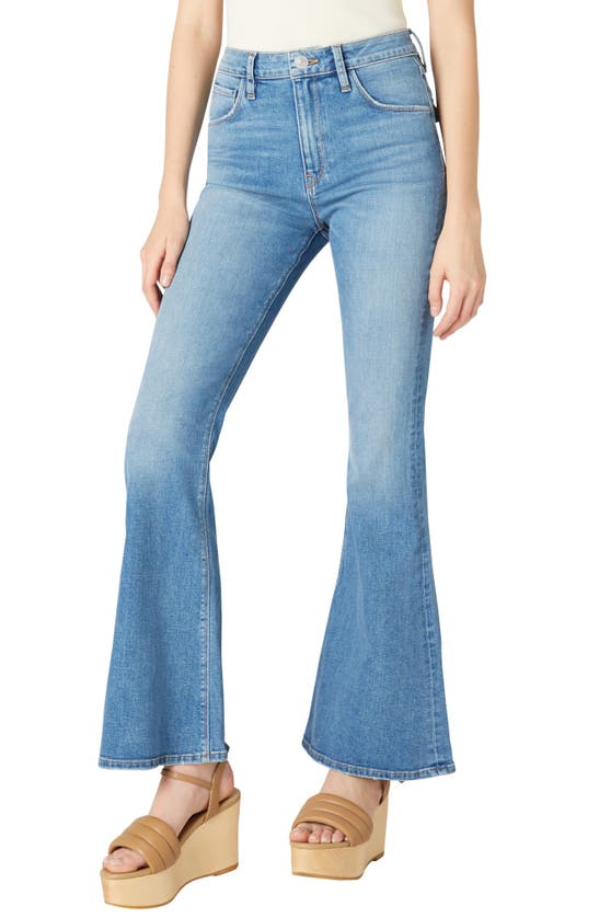 Hudson Holly High Waist Flap Pocket Flare Leg Jeans In Dream Lover