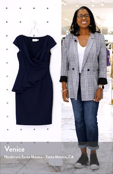Peplum Sheath Dress, sales video thumbnail