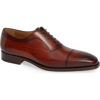 Magnanni Leyton Medallion Toe Oxford, Brown