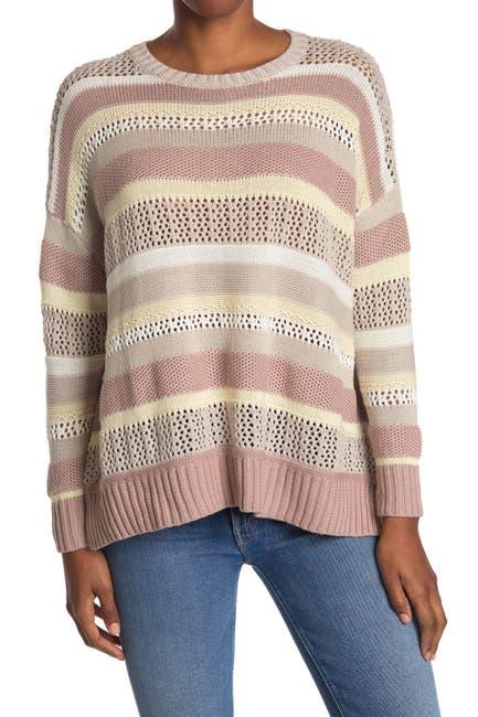 Image of Mustard Seed Multi Stripe Dolman Sweater