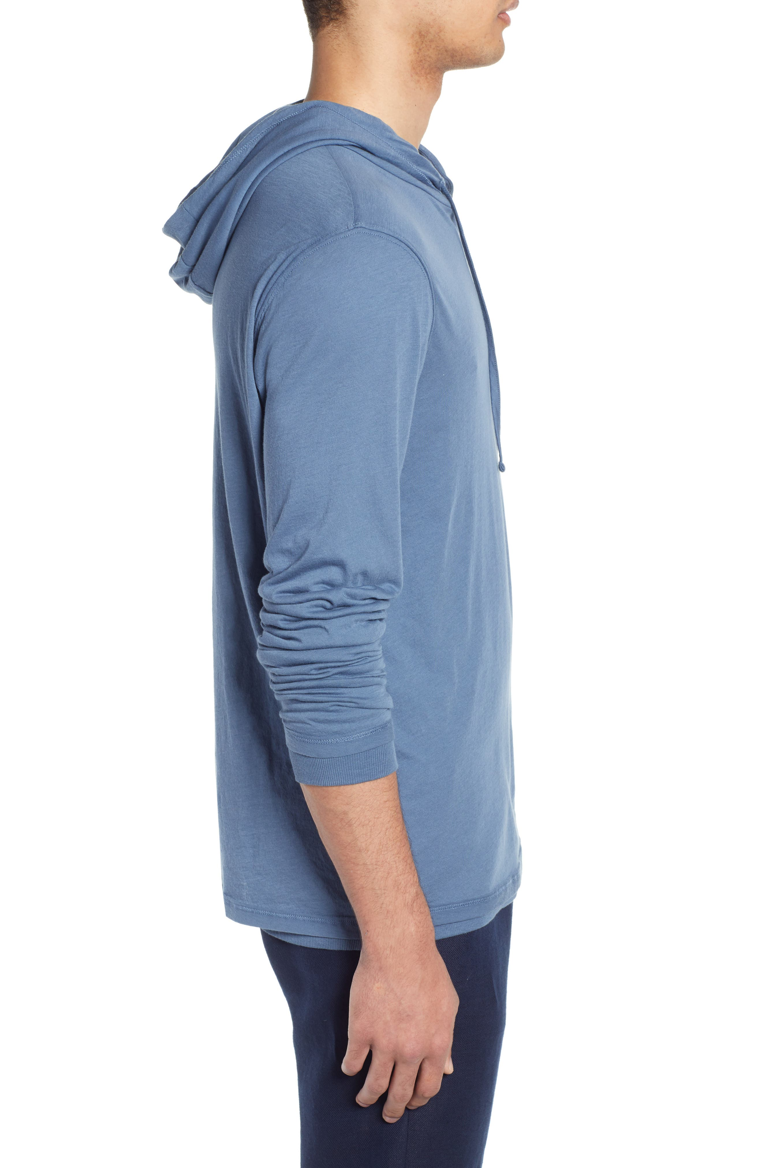 ,                             Double Layer Solid Hoodie,                             Alternate thumbnail 3, color,                             BERING SEA