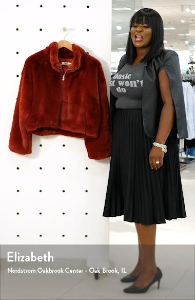 Xander Faux Fur Jacket, sales video thumbnail