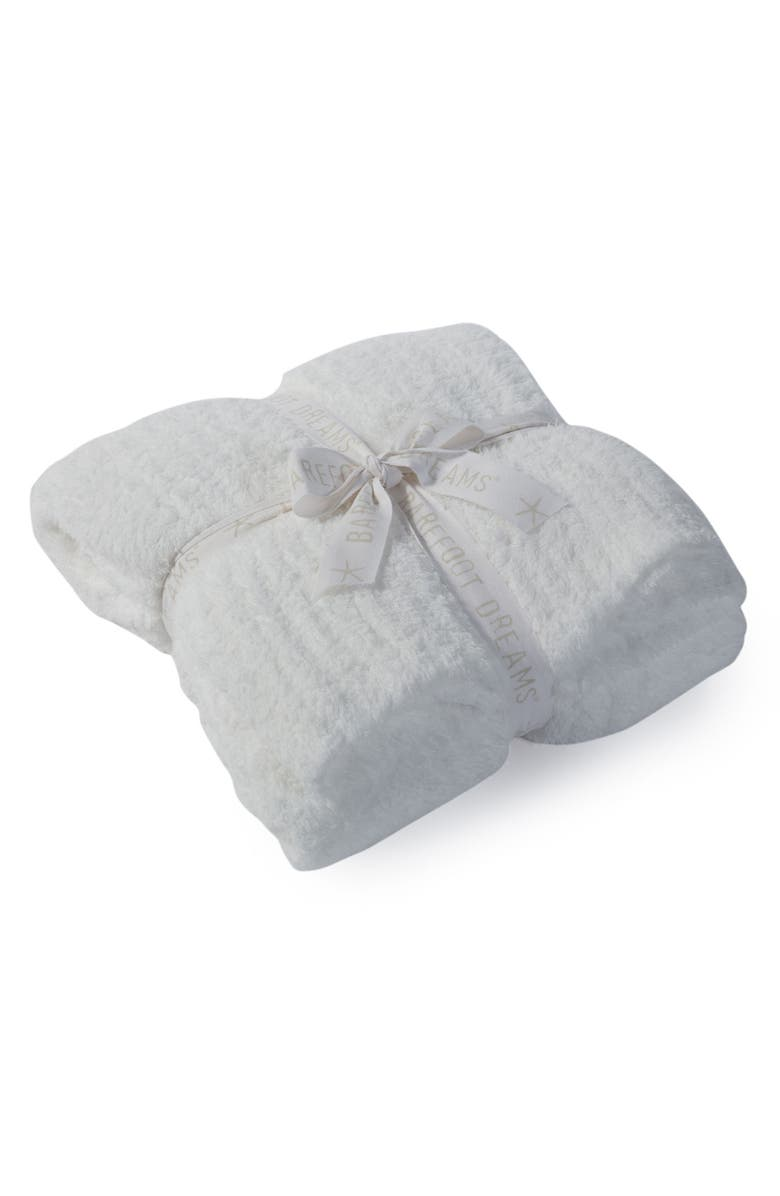 BAREFOOT DREAMS<SUP>®</SUP> 'CozyChic<sup>®</sup>' Ribbed Throw Blanket, Main, color, WHITE