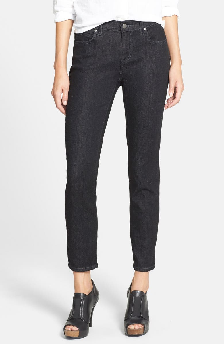 EILEEN FISHER Stretch Skinny Jeans, Main, color, 003