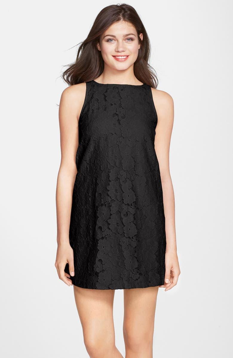 BB DAKOTA 'Savvanah' Lace Shift Dress, Main, color, 001