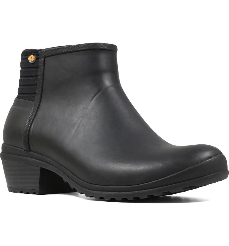 BOGS Vista Waterproof Rain Bootie, Main, color, BLACK RUBBER
