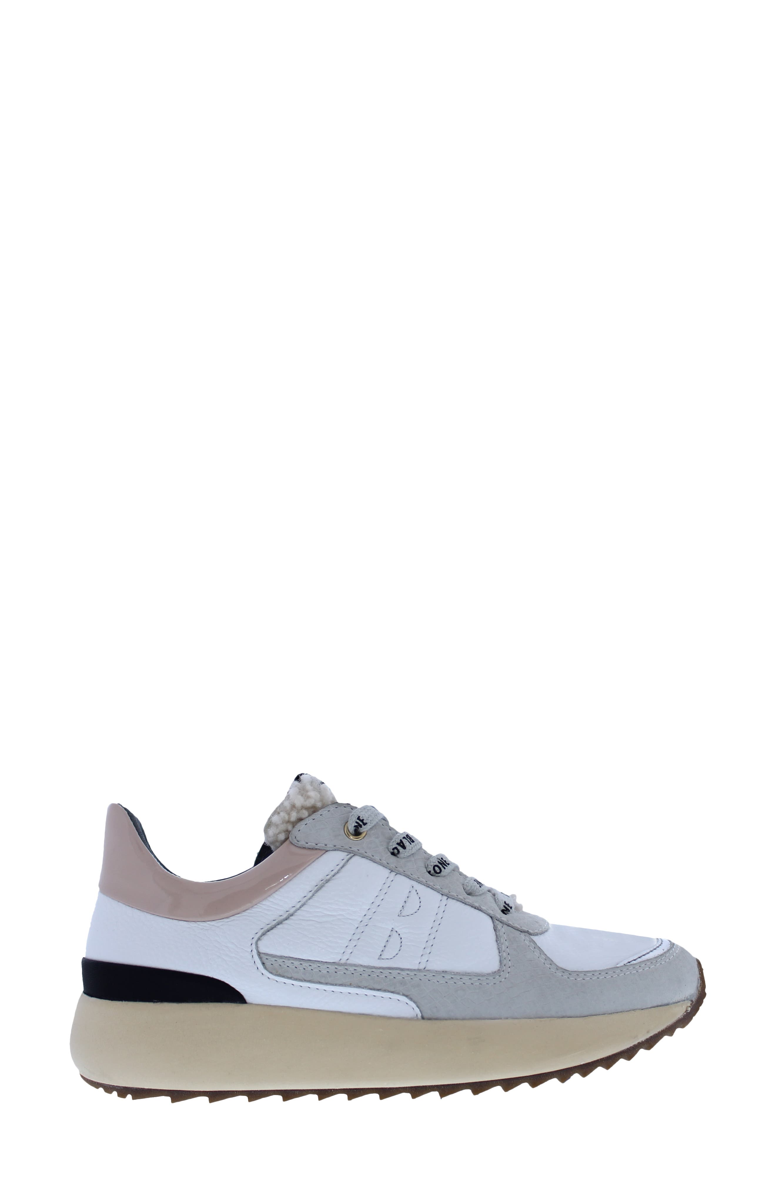 Ul92 Genuine Shearling Lace-Up Sneaker