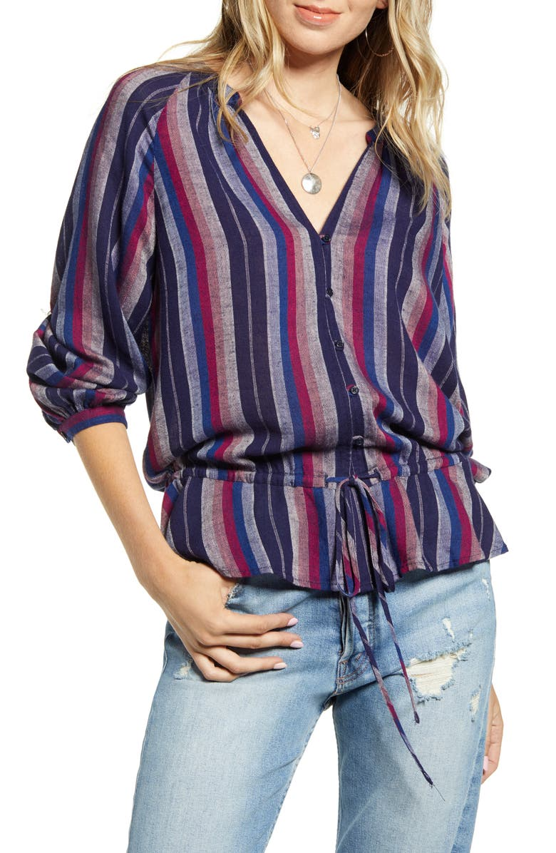 RAILS Marti Stripe Blouse, Main, color, SALVADOR STRIPE
