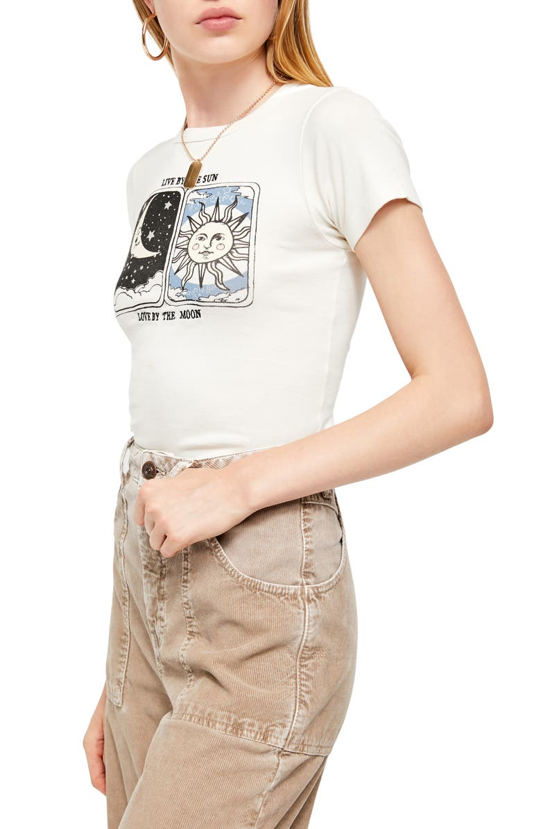BDG Urban Outfitters Live By the Sun Graphic Tee, Main, color, WHITE