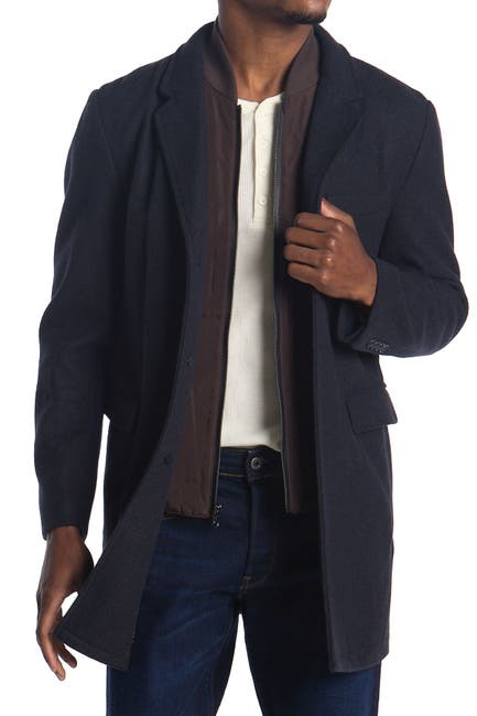 Image of Michael Kors Ghent Felted Slim Fit Dickey Coat