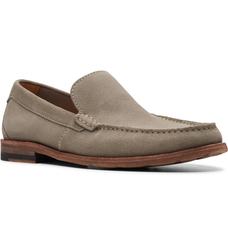 CLARKS<SUP>®</SUP> Pace Barnes Loafer, Main, color, SAGE SUEDE