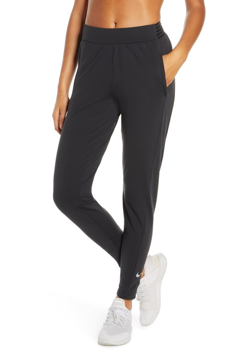 NIKE Essential Running Pants, Main, color, BLACK/ REFLECTIVE SILV