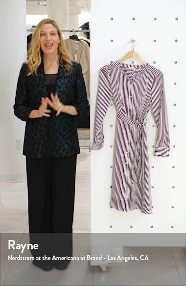 Crosby Stripe Long Sleeve Shirtdress, sales video thumbnail