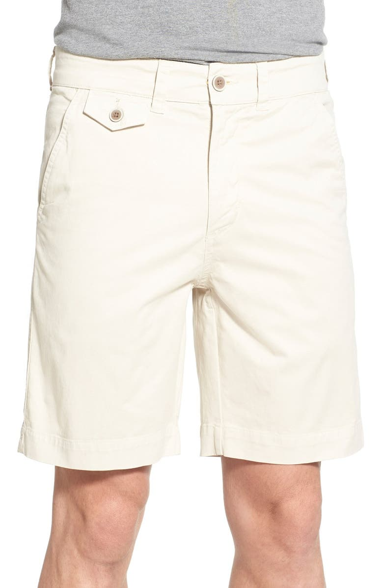 VINTAGE 1946 'Sunny' Stretch Chino Shorts, Main, color, STONE