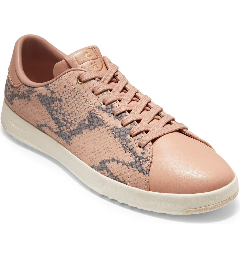 COLE HAAN GrandPro Tennis Shoe, Main, color, MAHOGANY ROSE SNAKE LEATHER