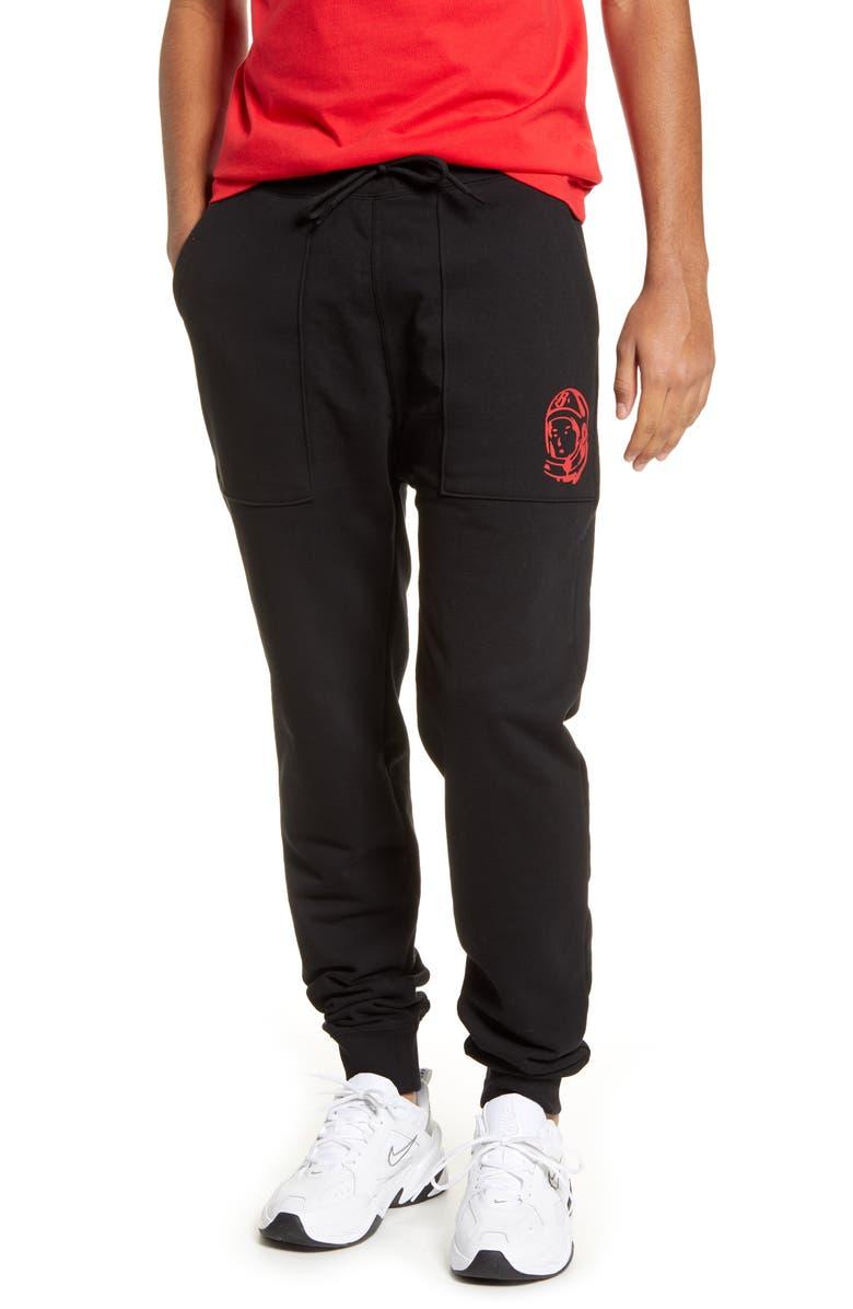 BILLIONAIRE BOYS CLUB Patch Pocket Sweatpants, Main, color, BLACK