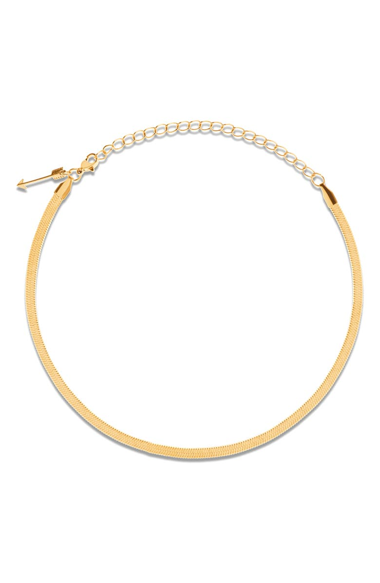 ELLIE VAIL Nic Snake Chain Choker, Main, color, GOLD